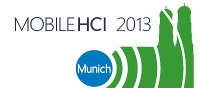 MobileHCI 2013 Logo and Home Button